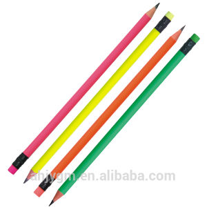 7′′ Neon Color Wood-Free Hb Pencil Plastic Pencil pictures & photos
