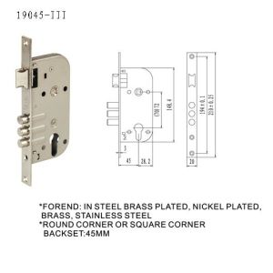 Door Handle Lock Body Mortise Lock pictures & photos