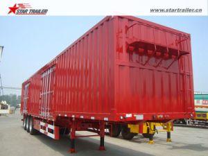 Enclosed Tri Axle Drop Deck Van Trailer pictures & photos