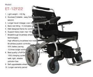 Golden Motor E-Throne Folding Power Wheelchair Et-12f22 pictures & photos