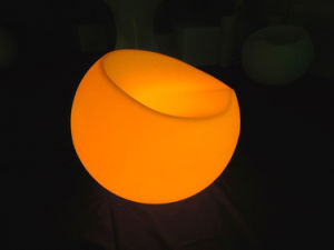 Night Club Furniture Plastic Rechargeable LED Apple Sofa (G007) pictures & photos