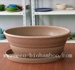 Bamboo Fiber Flower Pot (BC-F5004) pictures & photos