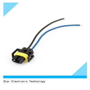Auto Car 2-Wire Electric Headlight H11 Socket Harness Plastic Connector Plug pictures & photos