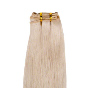 Blonde Color Russian Remy Human Hair Weaving