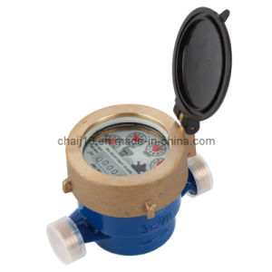 Water Meter Single Jet Liquid Sealed Vane Wheel Hot/Cold Water R100 pictures & photos