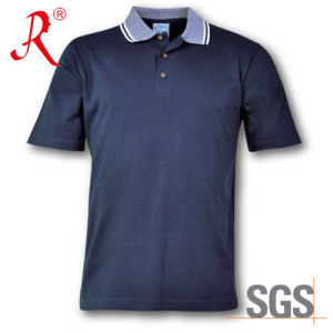 Men′ S Polo Leasure T- Shirt with Collared Slim (QF-2323) pictures & photos