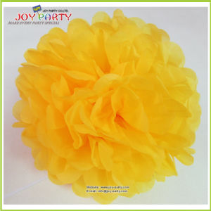 Gold Yellow Tissue Paper POM Poms for Halloween Party pictures & photos
