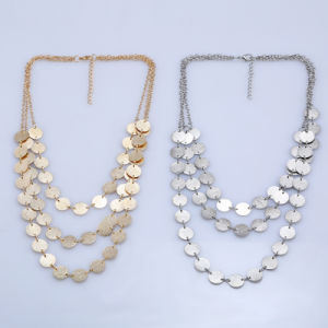 Fashion Simple Multi -Layer Alloy Clothing Accessories Sweater Coin-Chain Necklace pictures & photos