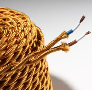 Colored Fabric Covered Lighting Cable in 2 and 3 Core Twisted Braided Wire Cable (BYW-8001) pictures & photos
