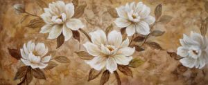 Oil Painting of Decorative Flowers-1 pictures & photos
