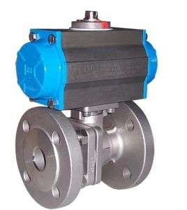 ASTM/ANSI Flanged Ball Valve (Pneumatic Actuator Operate RF Flange connect 150LB--600LB) pictures & photos