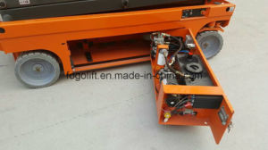 9.8m Battery Powered Self-Propelled Driving Scissor Lift pictures & photos