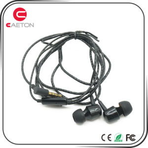 Metal Case Headphones Sports Stereo Portable Earphones with Mic