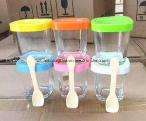 150ml Square Glass Pudding Bottle