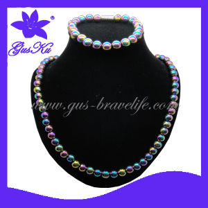 Hematite Magnetic Necklace&Bracelet Jewelry Set (2015 Hot Gus-Hns-018) pictures & photos