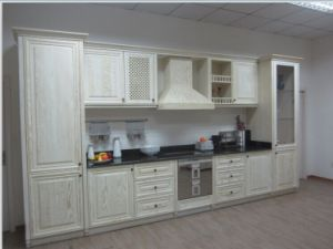 Guanjia Kitchen Red Oak Solid Wood Kitchen Furnitures pictures & photos