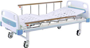 Medical Beds Movable Full-Fowler Bed with ABS Headboards pictures & photos