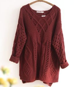 Ladies′ Knitted Fashion Sweater