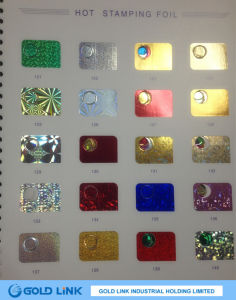 Pearl Hot-Stamping Foil for Paper or Plastic (Z001) pictures & photos