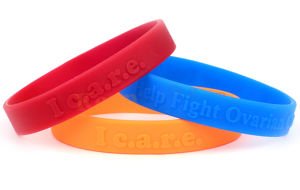 Custom Made Colorful Embossed Silicone Wristband, Silicone Bracelet pictures & photos