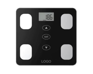 Glass Platform Electronic Body Fat Scale with Full Plastic Base pictures & photos