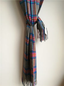 Cashmere Grey Plaid Shawl for Cold Weather pictures & photos
