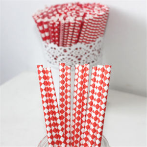 Disposable Flavored Paper Straw for Christmas Day pictures & photos