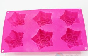 Rose Red Five-Pointed Star Shape Silicone Cake Mould pictures & photos