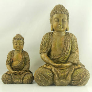 Wholesale Praying Wooden Finish Buddha Statues for Sale