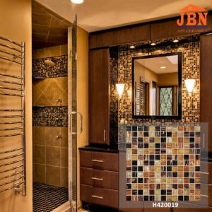 Cheap Price Common Used Brown Mixed Glass Mosaics (H420019) pictures & photos