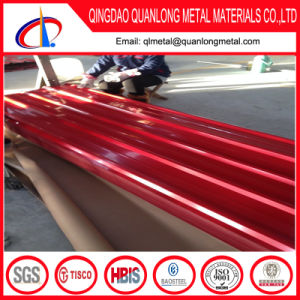 Red Color Gi Corrugated Roofing Sheet for Construction pictures & photos