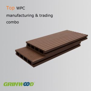 Extrude Hollow WPC Decking, WPC Terrance Decking for Outdoor Flooring pictures & photos