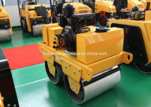 Tandem Drum Walk Behind Vibrating Roller, Asphalt Roller, Soil Compactor for Sale pictures & photos