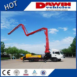Dw-25m Meters New Station Truck Concrete Pump Boom Concret Delivery Pump Car Truck Mounted Concrete Boom Pump Sinotruck Chassis pictures & photos