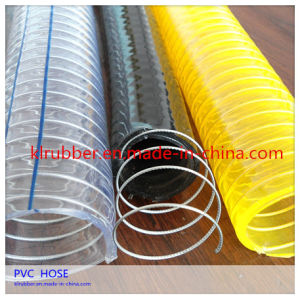 Flexible Steel Wire Reinforced PVC Water Suction Hose pictures & photos