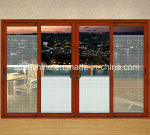 New Window Curtain with Aluminium Venetian Blind Motorized in Double Hollow Glass pictures & photos
