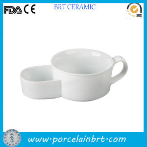 Nice Style White Ceramic Soup and Cracker Bowl pictures & photos