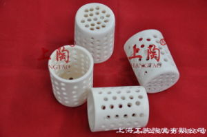 99% Alumina Cylindrical Basket Crucibles pictures & photos