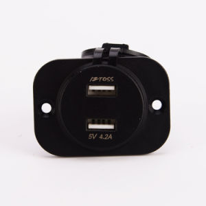 Car Dual USB Charger Socket Power Outlet with Voltmeter pictures & photos