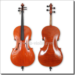 Flamed Handmade Smooth Spirit Varnish Advanced Cello (CH300Y) pictures & photos