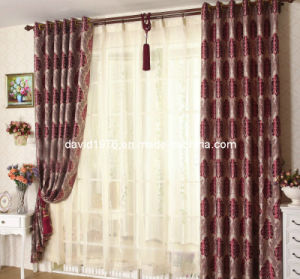 Burgundy Jacquard Window Grommet Panel/Curtain (SZSMEJ012)