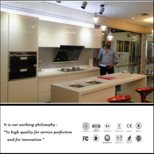 High Glossy Acrylic MDF Kitchen Cabinet (ZH654) pictures & photos