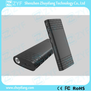 11000mAh 4 USB Port External Battery Power Bank with Emergency Torch (ZYF8081) pictures & photos