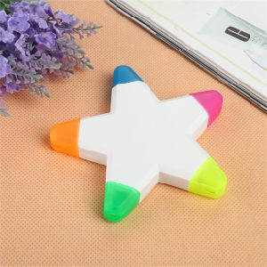 5 Colors Star Shaped Highlighter Marker Pen for Gift pictures & photos