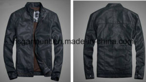 Men′s Safety Waterproof PU Leather Jacket, Motorcycle Suit pictures & photos