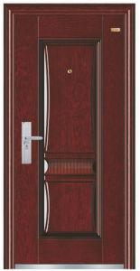 Simple Panel Design Steel Security Door pictures & photos