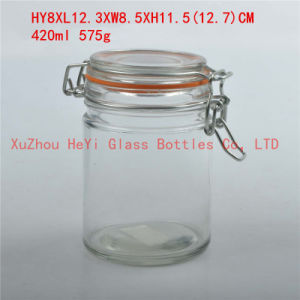 430ml Glass Storage Jar Candy Glass Seal Jar pictures & photos
