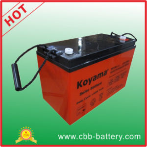 Top Quality 100ah 12V Deep Cycle AGM Storage UPS Backup Battery pictures & photos