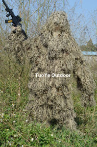 Military Camouflage Ghillie Yowie Sniper Tactical Camouflage Suit 4 Hunting Paintball Ghillie Suit Desert