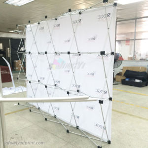 Quality Sublimation printing Stretch Fabric recycling pop up Backdrop banner Stand pictures & photos